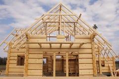 Casa di legno ecologica Fotografia Stock Libera da Diritti