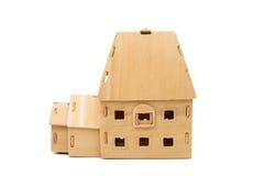 Casa di legno isolata Fotografia Stock