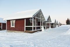 Casa di legno in Lapponia Fotografia Stock