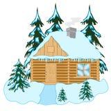 Casa di legno in legno royalty illustrazione gratis