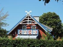 Casa di legno, Lituania Immagine Stock
