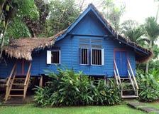 Casa di legno malese rurale antica Fotografia Stock Libera da Diritti