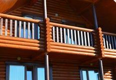 Casa di legno moderna Fotografia Stock Libera da Diritti