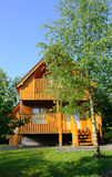 Casa di legno nel paese Fotografia Stock