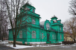 Casa di legno nello stile di Nouveau di arte in Bobruisk Immagini Stock