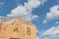 Casa di legno di legno Pearland in costruzione, il Texas, U.S.A. Fotografie Stock