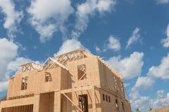 Casa di legno di legno Pearland in costruzione, il Texas, U.S.A. Fotografia Stock Libera da Diritti