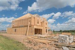 Casa di legno di legno Pearland in costruzione, il Texas, U.S.A. Fotografia Stock