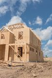 Casa di legno di legno Pearland in costruzione, il Texas, U.S.A. Immagini Stock