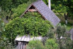 Casa di legno in Romania Fotografia Stock