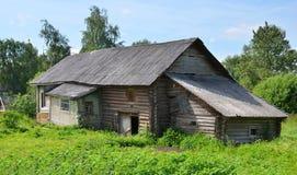 Casa di legno russa tradizionale Fotografia Stock Libera da Diritti