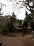 Casa di legno Santiago Cile Fotografia Stock Libera da Diritti
