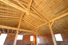 Casa di legno sei Fotografia Stock Libera da Diritti