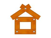 Casa di legno semplice Fotografia Stock