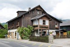 Casa di legno tradizionale Fotografia Stock