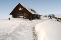 Casa di libro macchina di inverno Fotografia Stock Libera da Diritti