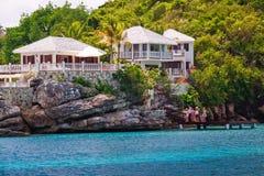 Casa di lusso di lungomare sull'Antigua Immagine Stock Libera da Diritti