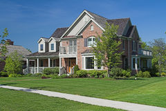 Casa di lusso suburbana Fotografie Stock