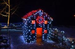 Casa di magia del nuovo anno Fotografia Stock Libera da Diritti