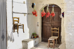 Casa di Matera in Italia Fotografia Stock Libera da Diritti
