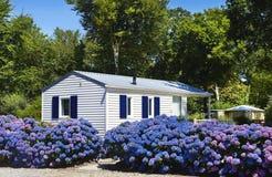 Casa di Mobil nel campeggio fotografia stock