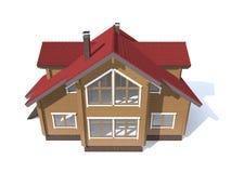 Casa di modello di architettura isolata nel bianco Immagine Stock