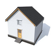 Casa di modello di architettura isolata nel bianco Immagini Stock Libere da Diritti