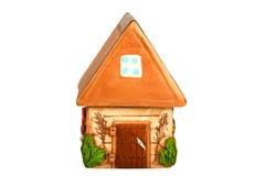 Casa di modello miniatura del paese (porcellino salvadanaio) Fotografia Stock Libera da Diritti