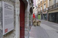 Casa di nascita di Stendhal a Grenoble immagini stock libere da diritti