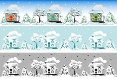 Casa di natale nella neve Fotografia Stock Libera da Diritti