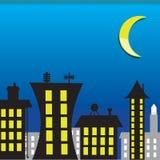 Casa di notte Illustrazione di Stock