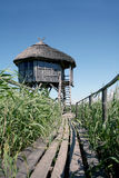 Casa di osservazione del santuario di fauna selvatica Fotografie Stock
