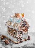 Casa di pan di zenzero di Natale Immagini Stock Libere da Diritti