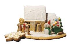 Casa di pan di zenzero di Natale fotografia stock libera da diritti