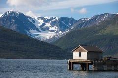 Casa di pesca fotografia stock