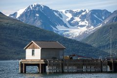 Casa di pesca fotografie stock