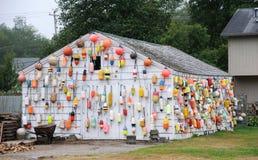 Casa di pesca Immagine Stock