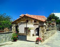 Casa di pietra in Città Vecchia di Spili in Grecia Museo piega Immagine Stock Libera da Diritti