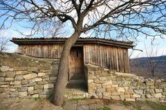 Casa di pietra e di legno Fotografia Stock