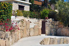 Casa di pietra Mediterranea Fotografia Stock