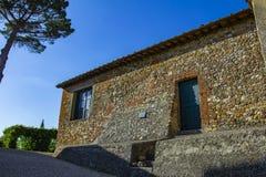 Casa di pietra molto vecchia della costruzione, Europa fotografia stock libera da diritti