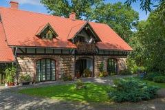 Casa di pietra rurale classica Immagini Stock Libere da Diritti