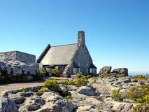 Casa di pietra sulla montagna della Tabella (Sudafrica) Fotografia Stock Libera da Diritti