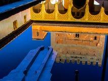 Casa di progettazione dei musulmani di riflessione dell'acqua Fotografia Stock Libera da Diritti