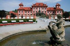 Casa di proprietà terriera barrocco a Praga Immagine Stock Libera da Diritti