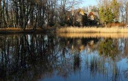 Casa di proprietà terriera di caccia Fotografia Stock