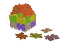 Casa di puzzle Fotografia Stock Libera da Diritti