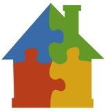 Casa di puzzle del puzzle fotografie stock libere da diritti
