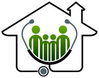 Casa di salute della famiglia illustrazione di stock