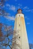Casa di Sandy Hook Light immagini stock